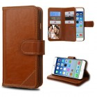 Apple iPhone 6/6s Brown Genuine Leather D'Lux Wallet (with Button Closure)