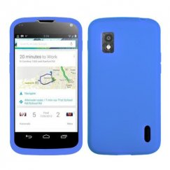 LG Nexus 4 Solid Skin Cover - Dark Blue
