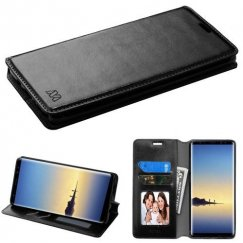 Samsung Galaxy Note 8 Black Wallet with Tray