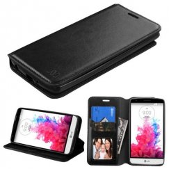 LG G3 Stylus Black Wallet with Tray
