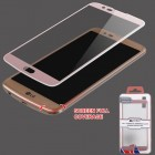 LG K10 Full Coverage Tempered Glass Screen Protector/Rose Gold