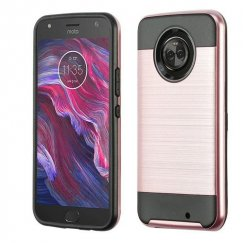 Motorola Moto X4 Rose Gold/Black Brushed Hybrid Case
