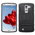 LG G Pro 2 Black/Black Advanced Armor Stand Protector Cover