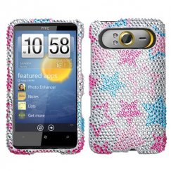 HTC HD7 Stylish Stars Diamante Case