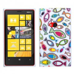 Nokia Lumia 920 Fish World/White Candy Skin Cover