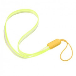 (5PCS)Fluorescent Yellow TPU Lanyard (7.5inch)