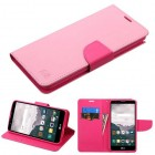 LG LG G Stylo 2 Plus Pink Pattern/Hot Pink Liner Wallet with Card Slot