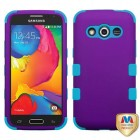 Samsung Galaxy Avant Rubberized Grape/Tropical Teal Hybrid Phone Protector Cover