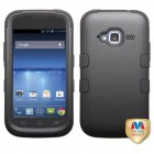 ZTE Concord 2 Rubberized Black/Black Hybrid Case