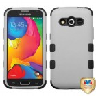 Samsung Galaxy Avant Rubberized Gray/Black Hybrid Phone Protector Cover