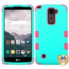 LG LG G Stylo 2 Plus Rubberized Teal Green/Electric Pink Hybrid Phone Protector Cover