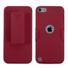 Apple iPod Touch (5th Generation) Rubberized Red Hybrid Holster