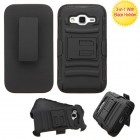 Samsung Galaxy Core Prime Black/Black Advanced Armor Stand Case with Black Holster