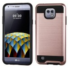 LG X Cam K580 Rose Gold/Black Brushed Hybrid Case