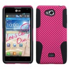 LG Spirit 4G Hot Pink/Black Astronoot Phone Protector Cover