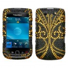 Blackberry 9800 Torch Golden Butterfly Diamante Protector Cover
