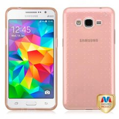 Samsung Galaxy Grand Prime Glassy Transparent Rose Gold SPOTS Candy Skin Cover