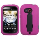 HTC Desire C Black/Hot Pink Symbiosis Stand Protector Cover