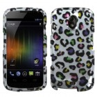 Samsung Galaxy Nexus Colorful Leopard 2D Silver Case