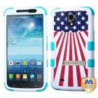 Samsung Galaxy Mega United States National Flag/Tropical Teal Hybrid Phone Protector Cover (with Stand)