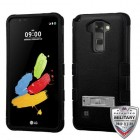 LG G Stylus 2 Natural Black/Black Hybrid Phone Protector Cover (with Stand)