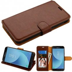 Samsung Galaxy J7 Brown Wallet(with Tray) -NP