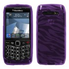 Blackberry 9100 Pearl 3G Purple Zebra Skin Candy Skin Cover