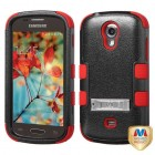 Samsung Galaxy Light Natural Black/Red Hybrid Case with Stand