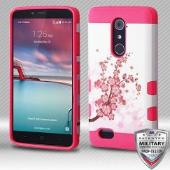 ZTE Grand X Max 2 Spring Flowers/Electric Pink Hybrid Case Military Grade