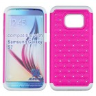 Samsung Galaxy S7 Hot Pink/Solid White FullStar Case