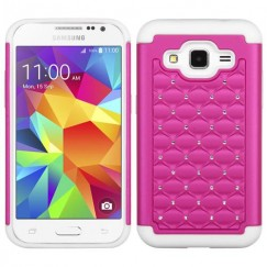 Samsung Galaxy Core Prime Hot Pink/Solid White FullStar Case