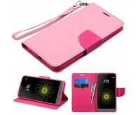 Pink Pattern/Hot Pink Liner MyJacket Wallet (with Lanyard)(GE013) -NP