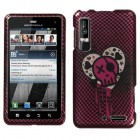 Motorola Droid 3 I Heart Rock (2D Silver) Sparkle Phone Protector Cover