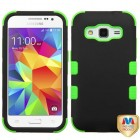Samsung Galaxy Core Prime Rubberized Black/Electric Green Hybrid Case