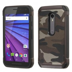 Motorola Moto G 3rd Gen Camouflage Gray Backing/Black Astronoot Case