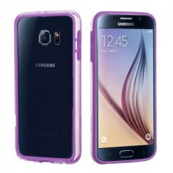 Samsung Galaxy S6 Purple/Transparent Clear Case