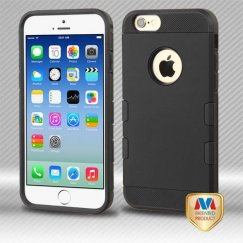 Apple iPhone 6/6s Rubberized Black/Black Hybrid Case