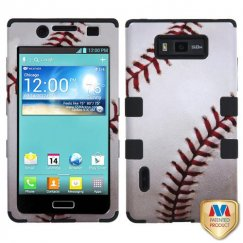 LG Splendor / Venice Baseball-Sports Collection/Black Hybrid Case