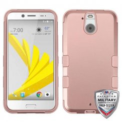 HTC Bolt Rose Gold/Rose Gold Hybrid Case - Military Grade