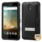 ZTE Avid Plus / Maven 2 Natural Black/Black Hybrid Case with Stand