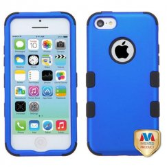 Apple iPhone 5c Titanium Dark Blue/Black Hybrid Case