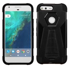 Google Pixel Black Inverse Advanced Armor Stand Case