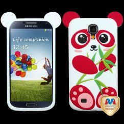 Samsung Galaxy S4 Red/White Panda Pastel Skin Cover