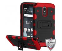 LG G Stylo 3 Black/Red Storm Tank Hybrid Protector Cover [Military-Grade Certified]