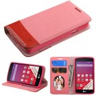 LG Tribute Pink/Red wallet with Card Slot