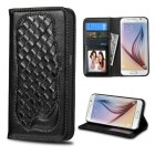 Samsung Galaxy S6 Black Genuine Leather Wallet