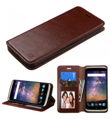ZTE Axon Pro Brown Wallet with Tray