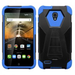 Alcatel One Touch Conquest Blue Inverse Advanced Armor Stand Case