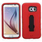 Samsung Galaxy S6 Black/Red Symbiosis Stand Case