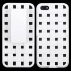 Apple iPhone 5/5s Rubberized Solid Ivory White Hybrid Holste - Weave Texture
